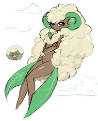 30voirs challenge day 16: Whimsicott by Jun-Kou