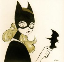 Batgirl - Inktober day 12 2016 by DisintegrationStreet