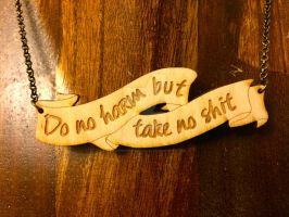 Do No Harm But Take No Sh*t pendant by theevergreenburrow