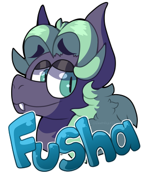 [Commission] Fusha Badge by DeathbyUFO