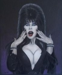 Elvira Mistress of the Dark  by timscottart