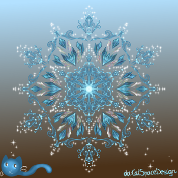 Blue Crystal Fountain by CatSpaceDesign
