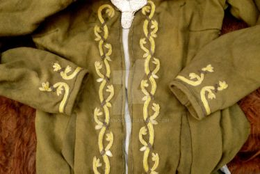Acantus embroidery on Birka Coat by Erianrhod