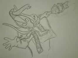 Rubick quick sketch by Lysperka