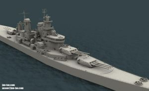 USS Missouri WIP by juntao