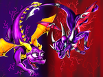 spyro and cynder by dudidraak