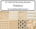 30 100x100 Fabric Brushes by purplefeen by purplefeen