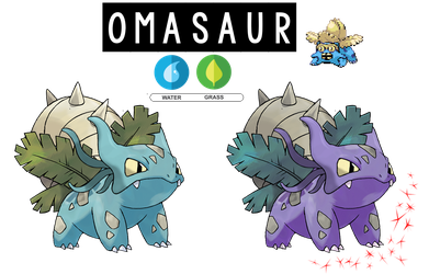 Pokemon Fusion Photoshop~Omasaur~ by Xbox-DS-Gameboy