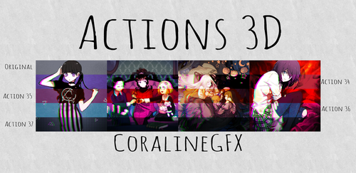 3D Actions [34.35.36.37] by GhostxMadnessGirl