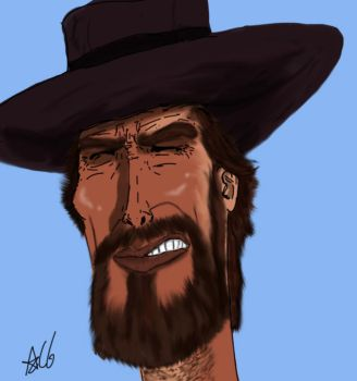 Clint Eastwood- Man with No Name by AlexCGarcia