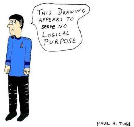 Mr. Spock critiques my art by Someonelikemyself