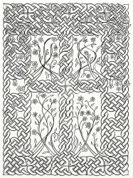 Celtic Knot Daisy Panel by LorraineKelly
