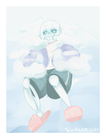 Cloud!Sans ??? by Micchi-Draws