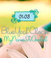 Skin For Rainmeter: BlueYeahClock by MyNameIsAnabel
