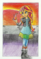 EQG: Sunset Flame by rainbow000pegasus