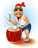 Happy Drummer by lazunov
