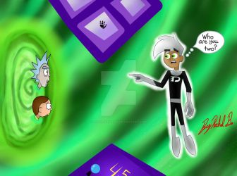Rick and Morty Accidentally Went To The GhostZone by littlewashu45