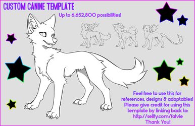 Custom Canine Template - 15$! by falvie