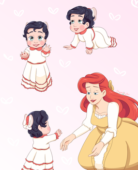Baby Melody and Ariel by CherryLoArt