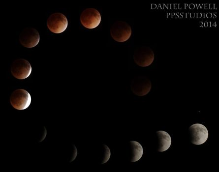 Progression of a Lunar Eclipse by dePow9999