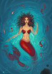 Commission - Me as mermaid 4 by SoniaMatas