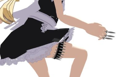 MMD Maid mini knife Download by 9844