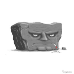 Here comes Mr Rock by RabidGolfcart