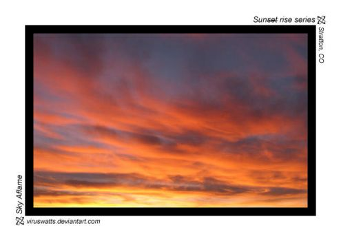 Sky Aflame by viruswatts