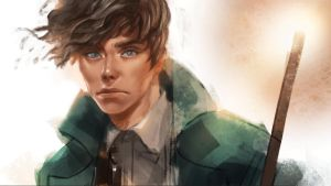 Newt Scamander by pangnim
