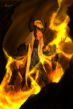 Sauron at Mordor, at the Second Age by Akhaste