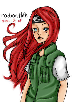 Chuunin Kushina by RadiantLife