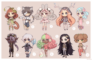 [CLOSED] 100 Theme Adopt Challenge! (no.1-10) by aienai