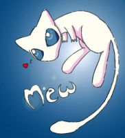 Mew by AmyWolfie
