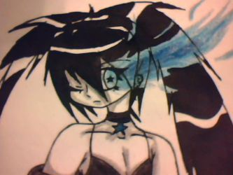 Black Rock Shooter Sketch (Colored) by Shadowgirl57
