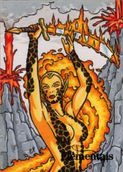 Elementals Sketch Card 2 by ElainePerna
