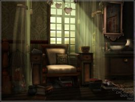interior of cakeshop by saturnspace
