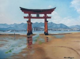 Torii to the Sea by JustLikeThatxD