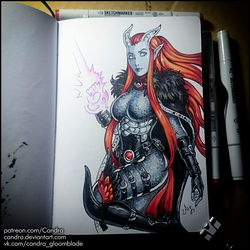 Sketchbook - Athena Barlow by Candra