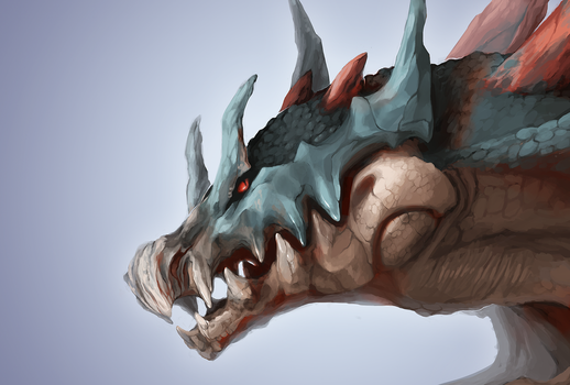 Lagiacrus Head by SorahChan