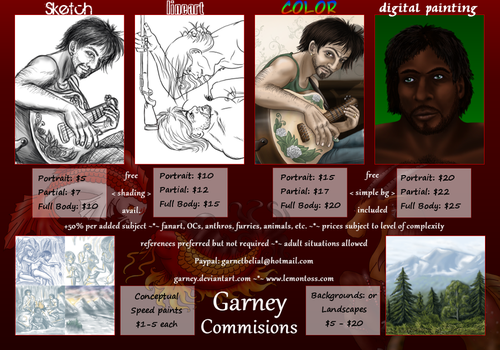 Commission Sheet by garney