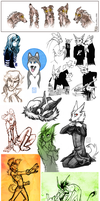 Sketch Dump 10 by CanisAlbus