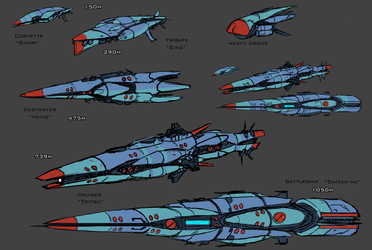 Imperial Fleet Sketches by goeliath