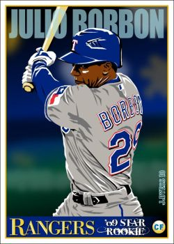 Julio Borbon, Texas Rangers by jadyess