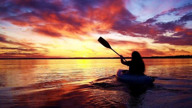 Sunset Paddle by Photolover68