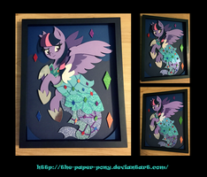11X14 Princess Dress Twilight Shadowbox by The-Paper-Pony