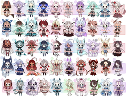 ADOPTS: 50 Mixed Batch [CLOSED] by Mewpyonadopts