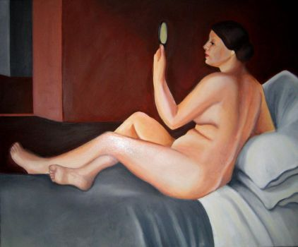 Nude with mirror - Oil on canvas by Larocka84