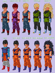 gohan all form v1 by Naruttebayo67