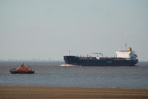 Tanker and the Spurn Lifeboat by moonhare77