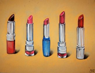 Still Life: Lipsticks by lonelymiracle